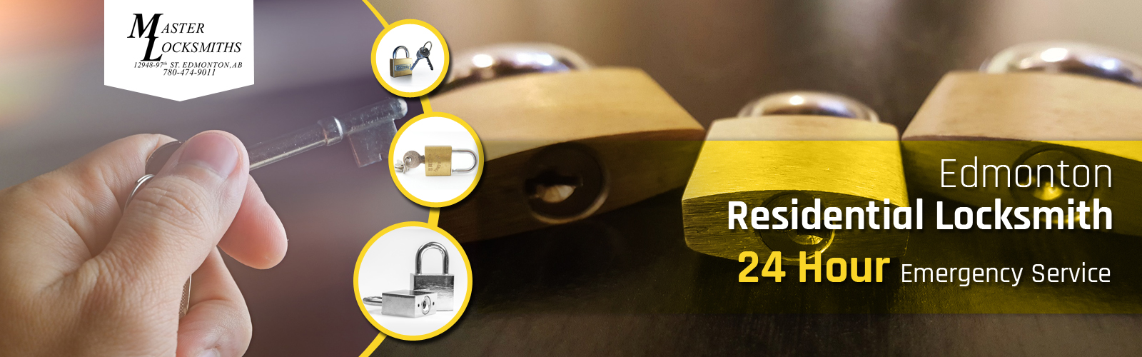 Master Locksmiths provides 24 hour emergency service | Call 780-474-9011